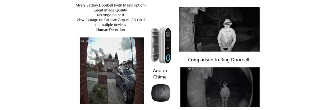 New Battery Powered Cameras and Door Bell