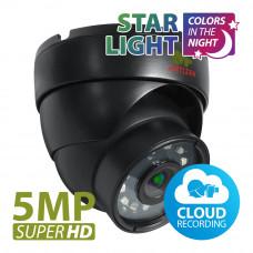 IPD-5SP-IR Starlight 1.0 5.0MP IP Cloud camera black