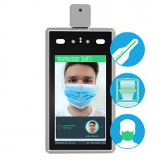 Face and temperature screening unit.