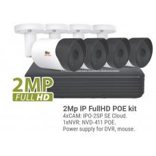 2MP 4 Camera IP Bullet Kit1