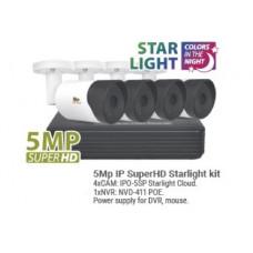 5MP 4 Camera Starlight IP Bullet  Kit1