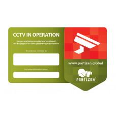 CCTV Sticker GDPR Compliant