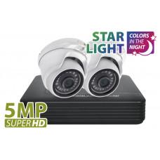 5MP 2 Camera Starlight AHD Kit1